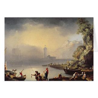 Tarjeta Escena del puerto