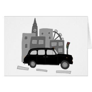 Tarjeta Escena del taxi de Londres