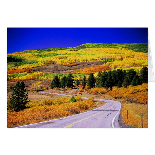Tarjeta escénica de la caída de Utah del camino