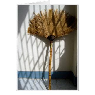 Tarjeta Escoba de bambú