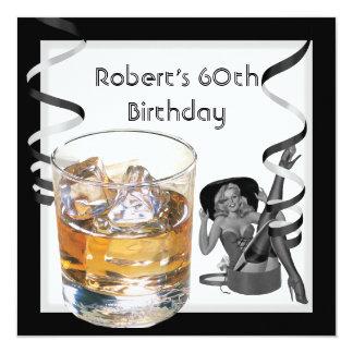 Tarjeta Escocés MODELO del 60.o de cumpleaños chica retro