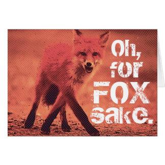 Tarjeta Esconda oh, para el Fox rojo descarado del motivo