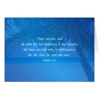 Tarjeta Escritura azul tropical del líder del aprecio del