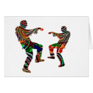 Tarjeta ESCRITURA impresa HappyHolidays de la danza de