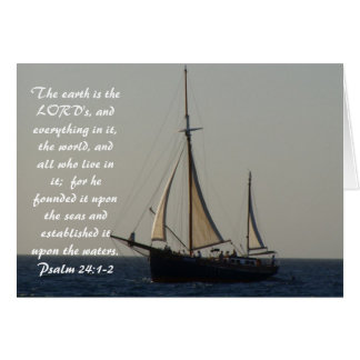 Tarjeta Escritura Notecard del velero