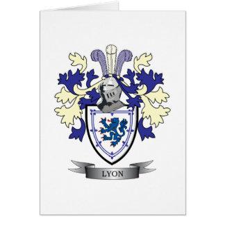 Tarjeta Escudo de armas del escudo de la familia de Lyon