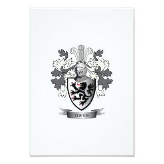 Tarjeta Escudo de armas del escudo de la familia de Owen