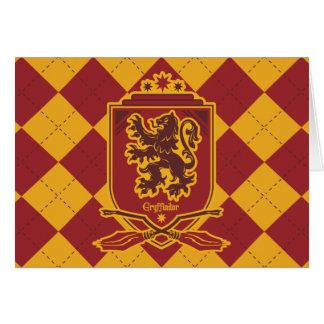 Tarjeta Escudo de Harry Potter el | Gryffindor QUIDDITCH™