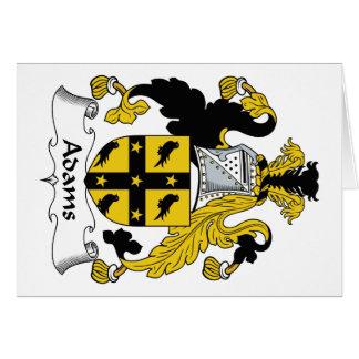 Tarjeta Escudo de la familia de Adams