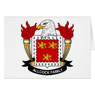 Tarjeta Escudo de la familia de Allcock