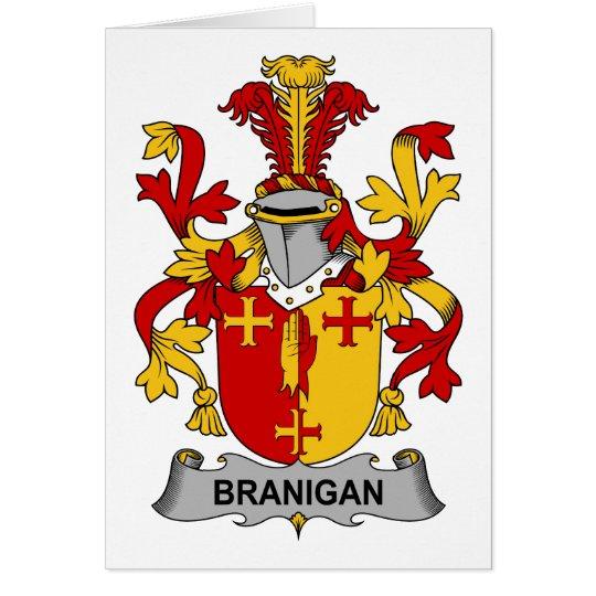Tarjeta Escudo de la familia de Branigan