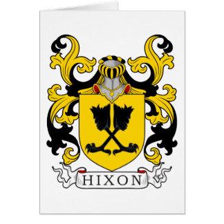 Tarjeta Escudo de la familia de Hixon