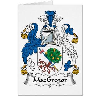 Tarjeta Escudo de la familia de MacGregor