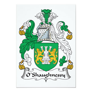 Tarjeta Escudo de la familia de O'Shaughnessy