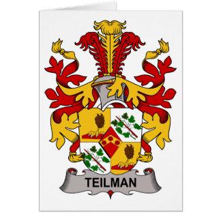 Tarjeta Escudo de la familia de Teilman