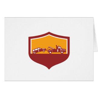 Tarjeta Escudo del coche de remolque de la grúa retro