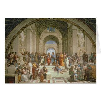 Tarjeta Escuela de Atenas, del della de la estrofa