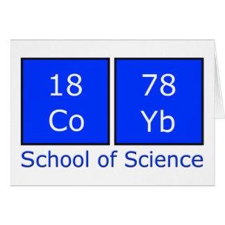 Tarjeta Escuela de la ciencia