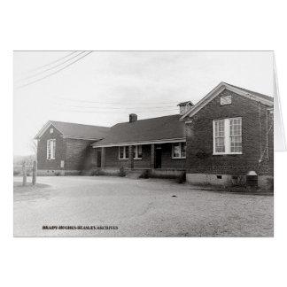 Tarjeta Escuela de la universidad de Irving circa 1950