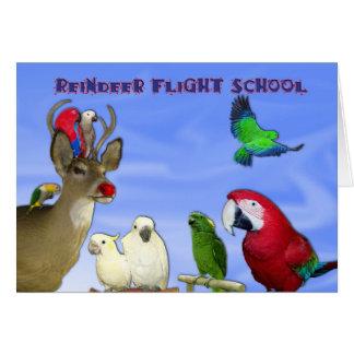 Tarjeta Escuela del vuelo del reno