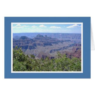 Tarjeta Espacio en blanco - borde del norte del Gran Cañón