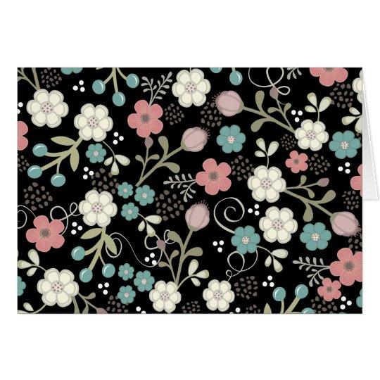 Tarjeta Espacio en blanco moderno banal floral Notecard