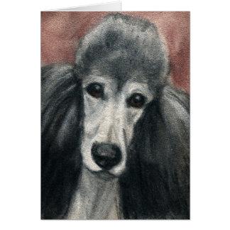 Tarjeta Espacio en blanco Notecards del arte del perro del