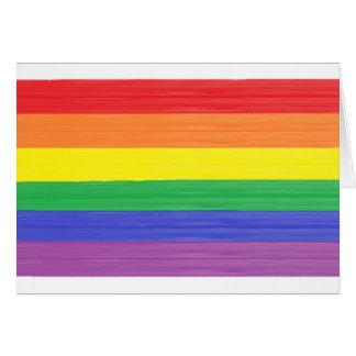 Tarjeta Espacio en blanco pintado de la bandera del arco