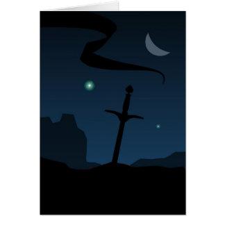 Tarjeta Espada de la bandera (tarjeta)