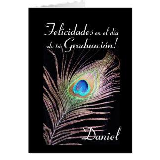 Tarjeta Español: Graduacion de Daniel