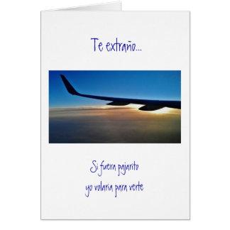 Tarjeta Español: Sorpresa de Viaje del viaje de la