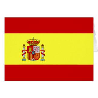 Tarjeta española de Bandera Española de la bandera