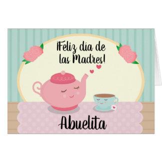 Tarjeta española del día de madre para la abuela