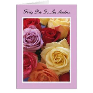 Tarjeta española del día de madre -- Rosas
