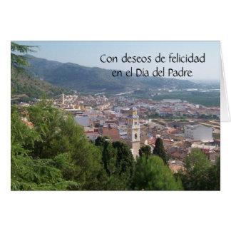 Tarjeta española Felicidad Dia Del Padre del día