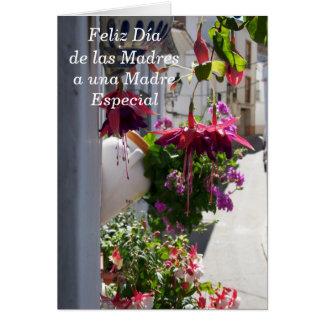 Tarjeta española Feliz Dia de las Madres del día