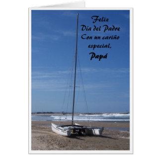 Tarjeta española Feliz Dia Del Padre del día de pa