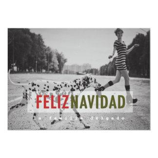 Tarjeta española moderna de la foto del día de invitación 12,7 x 17,8 cm