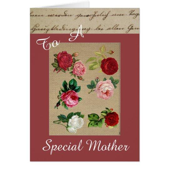 Tarjeta especial de la madre