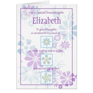 Tarjeta especial del personalizable de la nieta