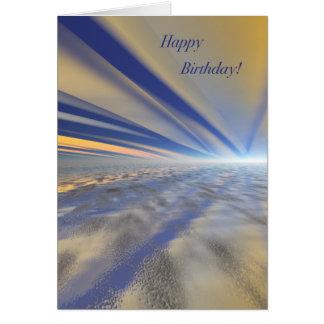 Tarjeta espectacular del feliz cumpleaños del arte