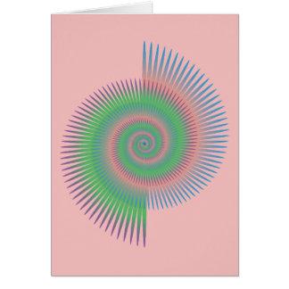 Tarjeta Espiral de la rueda de Catherine