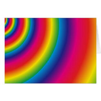 Tarjeta Espiral del arco iris