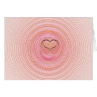 Tarjeta Espirales del pastel del rosa y del melocotón