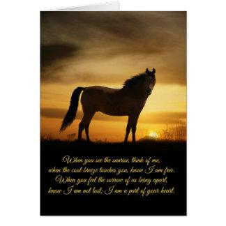 Tarjeta espiritual del poema de la condolencia del