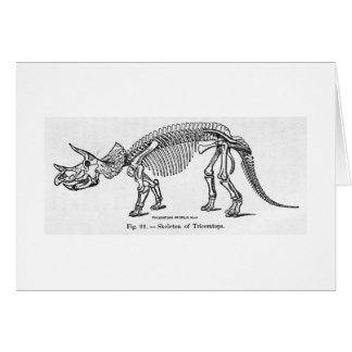 Tarjeta esquelética del arte del Triceratops