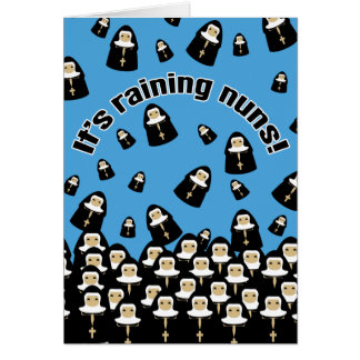 Tarjeta Está lloviendo a monjas