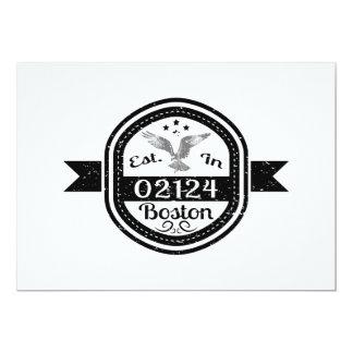 Tarjeta Establecido en 02124 Boston