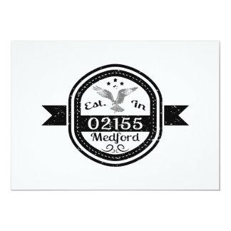 Tarjeta Establecido en 02155 Medford