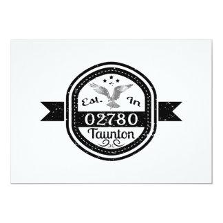 Tarjeta Establecido en 02780 Taunton